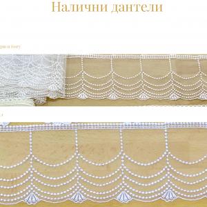Позлатени сватбени свещи с дантела цвят Ivory - NCandles - Снимка 3