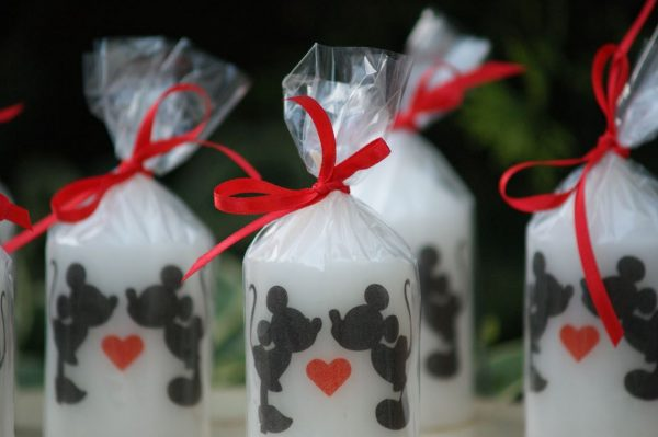 Свещи сватбени подаръчета за гости Mr&Mrs Mouse