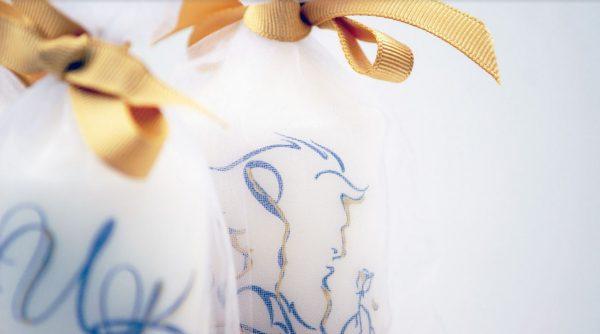 """Свещи сватбени подаръчета за гости """"Красавицата и звяра"""""""