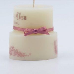 Свещи във формата на торта за сватбен подарък | NCandles