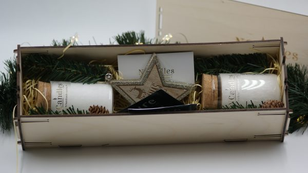 Ароматни свещи за подарък в дървена кутия - NCandles - Снимка 2