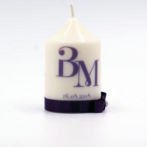 Сватбени свещи с инициали за гости - Подарък - NCandles - Снимка 6