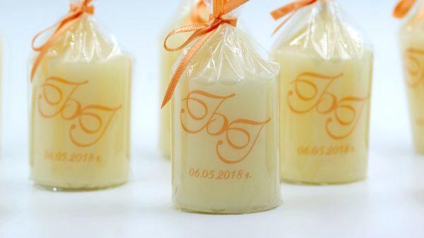 Сватбени подаръчета за гости с инициали