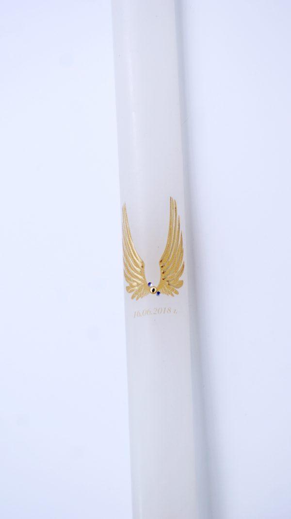 """Ритуална свещ с """"Ангелски Криле"""" в цвят слонова кост - Снимка 4"""