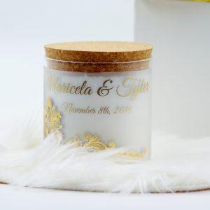Голяма персонализирана декоративна свещ - NCandles