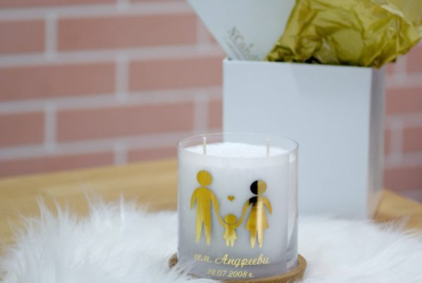 "Персонализирана декоративна свещ ""Нашето семейство"""