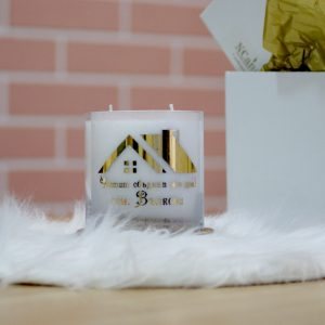 "Персонализирана декоративна свещ ""Нов дом"""
