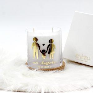 Персонализирана декоративна свещ
