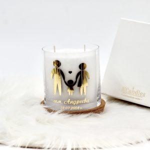Персонализирана декоративна свещ Нашето семейство